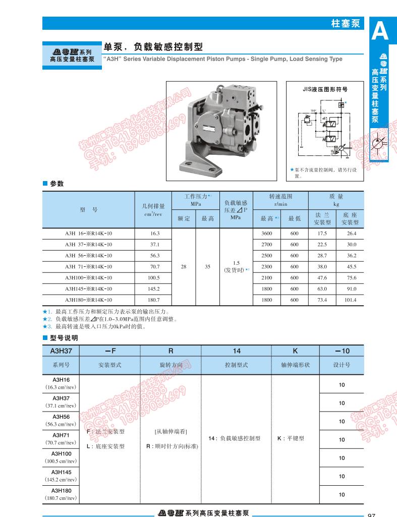 A3H37-LR14-KK负载敏感控制型